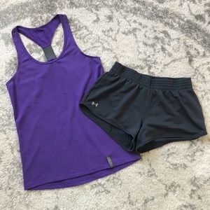 Under Armour workout set tank & shorts + FREE top